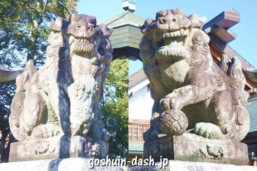 御井神社(岐阜県各務原市)狛犬