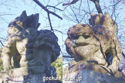 加佐美神社(岐阜県各務原市)狛犬