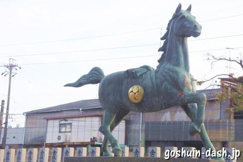 村国真墨田神社(岐阜県各務原市)神馬