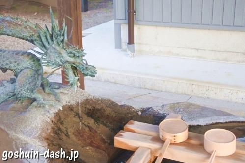 村国真墨田神社(岐阜県各務原市)手水舎