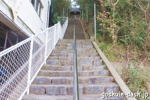 御鍬神社(愛知県蒲郡市竹島町)石段