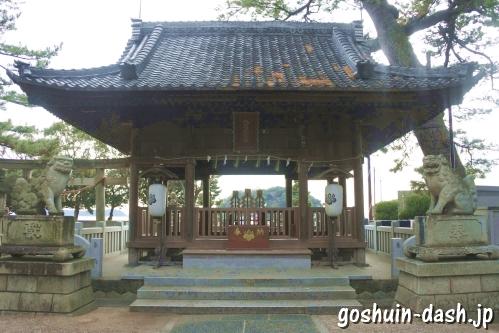 八百富神社(蒲郡市竹島)遙拝所