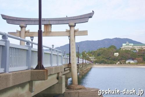 竹島コンクリート橋と蒲郡クラシックホテル