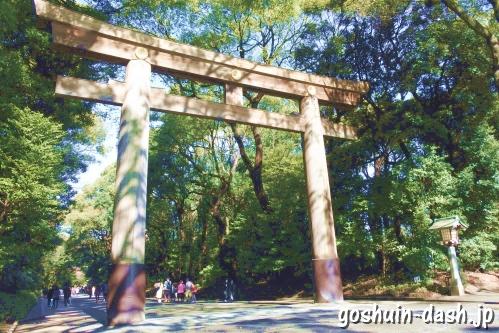明治神宮(東京都渋谷区)南鳥居