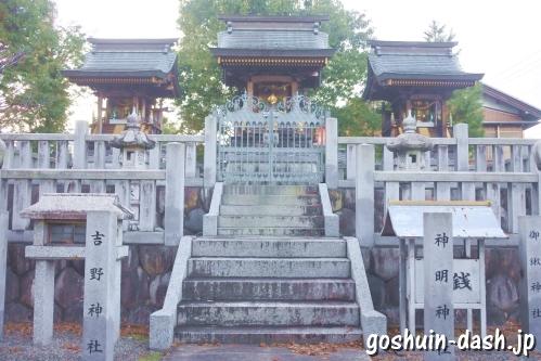 神明神社(岐阜市蔵前)社殿