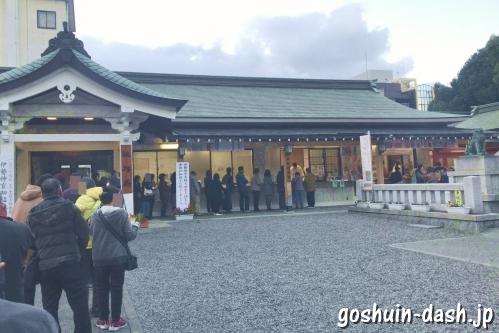 金神社(岐阜市)金の御朱印の待ち行列
