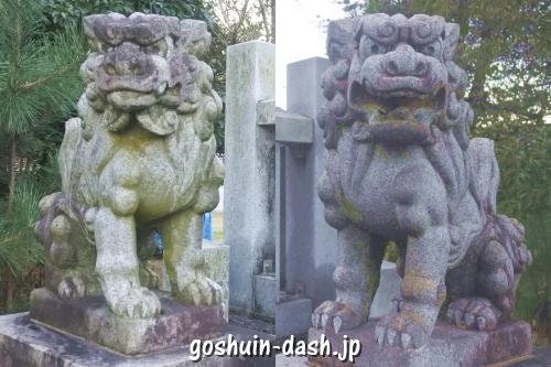 神明神社(岐阜市蔵前)狛犬