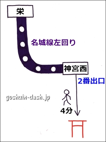 栄から熱田神宮の行き方(地下鉄・神宮西駅)