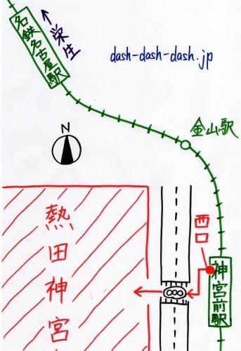 名古屋駅から熱田神宮の行き方(名鉄電車でのアクセス)