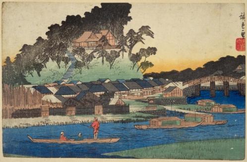 東都名所 真土山之図(国立国会図書館デジタルコレクション)