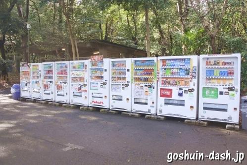 明治神宮(東京都渋谷区)駐車場の自動販売機