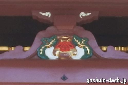 待乳山聖天 本龍院(東京都台東区浅草)本堂入口(大根と巾着)