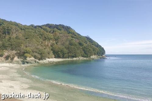 伊射波神社(三重県鳥羽市)近くの海岸