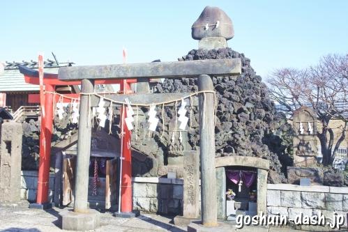 富士塚・富士遙拝所・白狐祠(石浜神社)