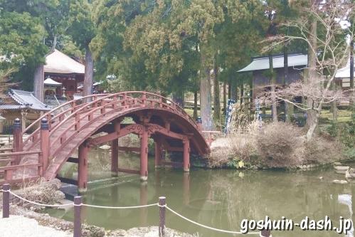 連間の池と連珠橋(朝熊岳金剛證寺)