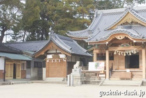 八劔神社(愛知県蒲郡市)上社務所(御朱印受付場所)