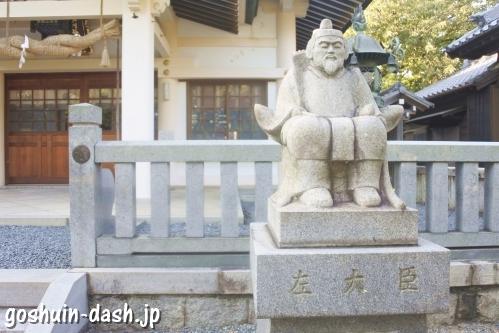 本刈谷神社(愛知県刈谷市)左大臣像