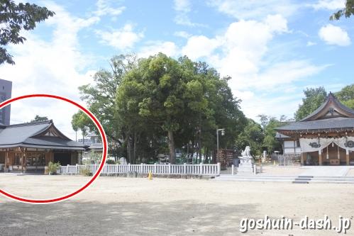 渋川神社(愛知県尾張旭市)社務所(授与所・御朱印受付場所)