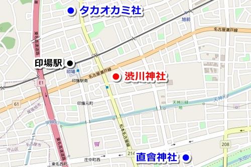 渋川神社(愛知県尾張旭市)御朱印マップ