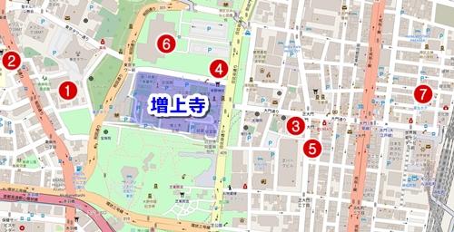 増上寺周辺ランチスポット・カフェマップ