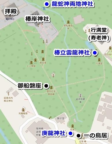 椿大神社(三重県鈴鹿市)境内マップ