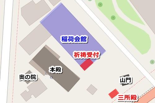 豊川稲荷東京別院(東京都港区元赤坂)御朱印マップ