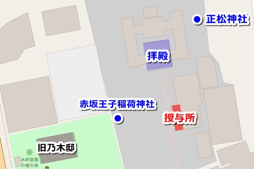 乃木神社(東京都港区)御朱印マップ