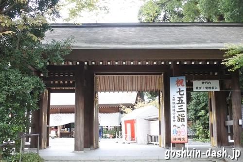 阿佐ヶ谷神明宮(東京都杉並区)神門(瑞祥門)