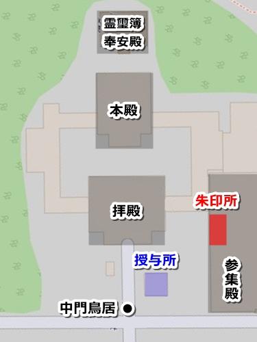 靖国神社御朱印マップ