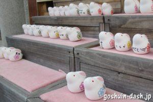 八坂神社(京都市東山区)うさぎの置物