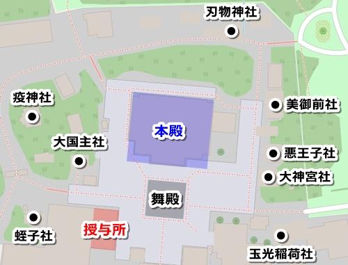八坂神社(京都市東山区)御朱印マップ