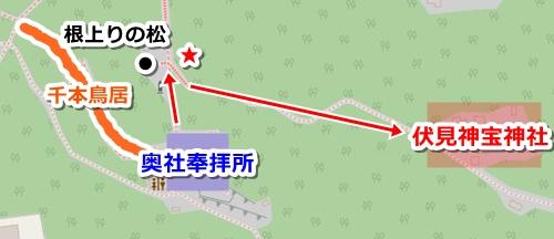 伏見神宝神社(京都市伏見区)アクセスマップ(行き方の地図)
