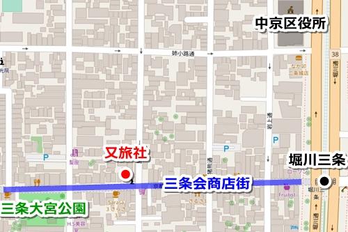又旅社(京都八坂神社境外末社)マップ(地図)