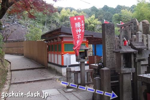 明竹稲荷宮(腰神不動神社・京都市伏見区)への階段