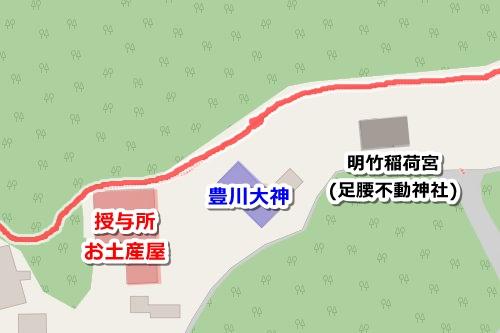 伏見豊川稲荷本宮(京都市伏見区)御朱印受付場所マップ