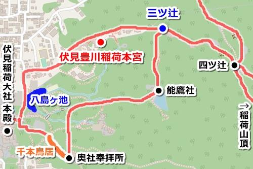 伏見豊川稲荷本宮(京都市伏見区)アクセスマップ