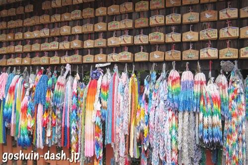 東丸神社(京都市伏見区)絵馬と千羽鶴