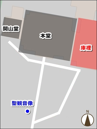 長母寺(名古屋市東区)境内マップ(御朱印拝受場所)