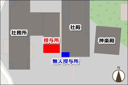 小垣江神明神社(愛知県刈谷市)境内マップ(御朱印授与所)
