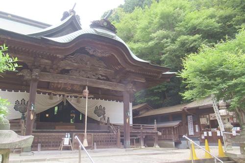 内々神社(愛知県春日井市)拝殿・授与所(御朱印受付場所)
