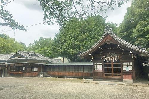 柏井八幡社(愛知県春日井市)神殿・授与所