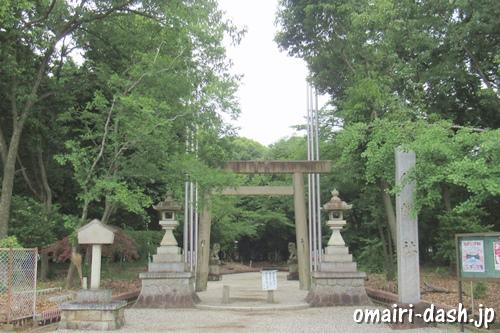 柏井八幡社(愛知県春日井市)正面鳥居