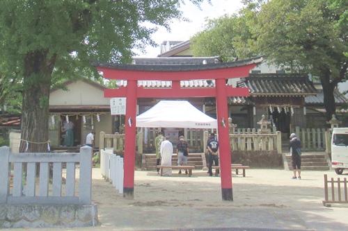 秋葉社(刈谷市銀座)境内全景
